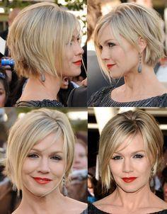 Jennie Garth New Short Haircut | Jennie Garth short hair cut & color. NICE,