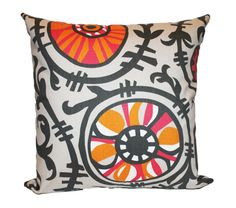 Pink & Orange Pillow Cover Suzani 18 x 18  Premier by motion52, $15.00