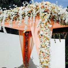 Floral ooze. Wedding Stage Decor by 3Production Wedding Planners Bangalore