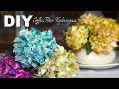 Coffee Filter Hydrengea - Hortensia en filtres à café - Hortensia en el filtro de café - YouTube