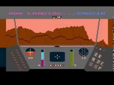 Rescue on Fractalus! (ATARI 800XL) gameplay