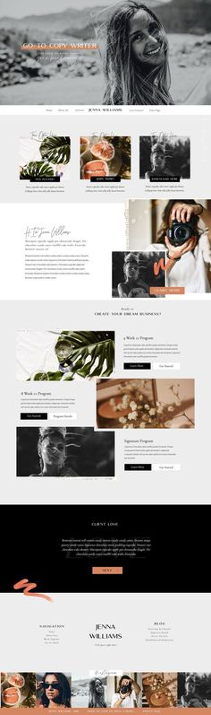 Custom Website Design & Templates for Ambitious Female Entrepreneurs ↝ Get Off! - This Showit Website Template was designed by Boldxboho (Bold and Boho) for Coaches and other Female - Web Design Trends, Site Web Design, Web Design Studio, Custom Web Design, Custom Website Design, Homepage Design, Portfolio Web Design, Newsletter Design, Ux Design