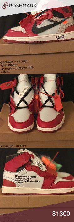 """9285615d288 Air Jordan 1 off white """"The Ten"""" Deadstock AJ1 Off white"""