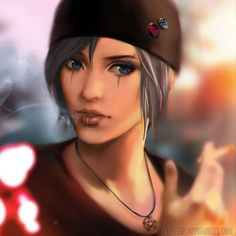 life is strange, chloe, goth outfit by laovaan