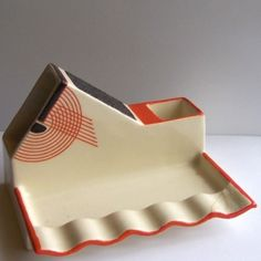 Match Striker and Cigarette Holder - Royal Doulton 'Tango' pattern (with the shape number Cigarette Holder, Vintage Ashtray, Up In Smoke, Pattern Matching, Victorian Art, Royal Doulton, Kitsch, Pottery, Tango