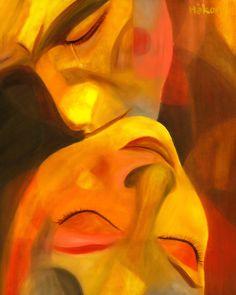 Love Painting - Romeo And Juliet by Hakon Soreide Painting Love Couple, Arte Latina, Art Amour, Arte Pop, Erotic Art, Painting Inspiration, Painting & Drawing, Amazing Art, Fine Art America