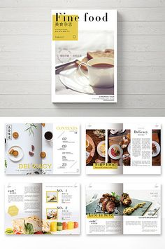 Small fresh food magazine Brochure - My Design Ideas 2019 Recipe Book Design, Cookbook Design, Food Menu Design, Food Magazine Layout, Magazine Layout Design, Brochure Food, Brochure Layout, Brochure Template, Portfolio Web