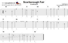 Scarborough Fair -  guitar tab
