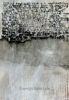 DOUG - type inspiration - wiped[out] Helen Lyôn Grafik Art, Encaustic Art, Letter Art, Mark Making, Medium Art, Word Art, Mixed Media Art, Textile Art, Collage Art