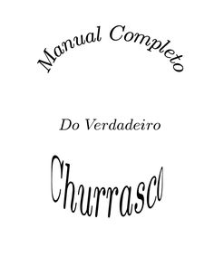 Manual de Churrasco  Livro de dicas de como fazer um churrasco