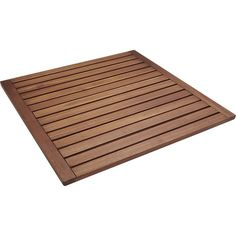 Lateral Teak Bath Mat, $39.95 Teak has an outstanding resistance to decay and rot, which makes it perfect for wet environments like your bathroom. To add a low-maintenance, zen-like quality to your bathroom, consider this CB2 version under $40.