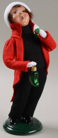 Byers Choice Ltd Byers Choice Carolers at Replacements, Ltd Piece Name: Boy With Pickle - Nb743, No Box  Size: 9 in  Style: 2004  Was: $49.99  Discount: 8%    Our Price Each: $45.99