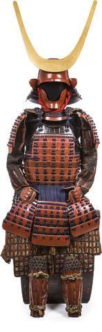 nuinobu何江戸時代(17世紀後半)の赤い漆の鎧