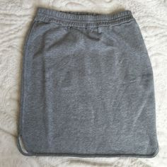 J. Crew gray skirt This is made from sweatshirt material split sides and an elastic waist band. NWOT J. Crew Skirts Mini