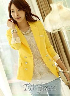 New Arrival Artistic Slim Long Sleeves Blazer