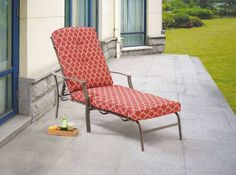 Outdoor Chaise Lounge Adjustable Pool Lounger Chair Cushion Seat Patio Furniture #Mainstays