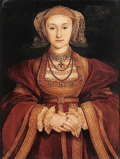 """Anne of Cleves  by Hans Holbein the Younger, c. 1539. Henry VIII's fourth wife, queen from January to July 1540. The marriage was annulled and Anne was thereafter referred to as was referred to as """"the King's Beloved Sister""""."""