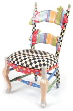 Rabbit Chair | MacKenzie-Childs - eclectic - kids chairs - other metro - MacKenzie-Childs