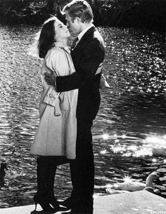 """Robert Redford and Natalie Wood in This Property is Condemned (1966) bellecs: """"Women love to work with him (Redford) because he doesn't come..."""