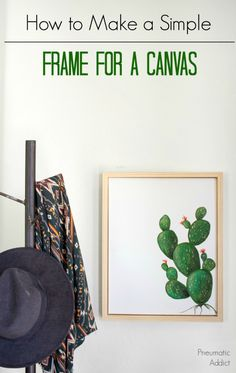 How to Make a Simple Frame For a Canvas. How to Make a Simple Frame For a Canvas. Small Wood Projects, Diy Furniture Projects, Diy Projects, Project Ideas, Wood Crafts, Diy Crafts, Diy Frame, Woodworking Projects, Woodworking Plans