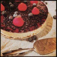 Mine matskriblerier: Ostekake med blåbær