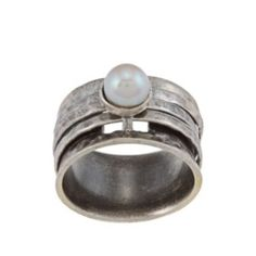 Pearl ring Sterling silver jewelry (Israel)