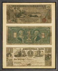 Antique Currency Framed Photographic Print