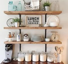 Open shelving farmhouse