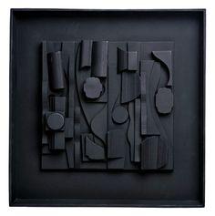 SymphonyThree, Sculpture-Resin, Louise Nevelson, x x 2 in. Louise Nevelson, Modern Sculpture, Abstract Sculpture, Collage Sculpture, Kara Walker, Joseph Cornell, Wooden Easel, B 13, Assemblage Art