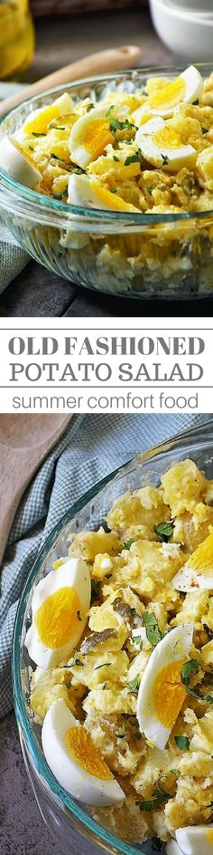It wouldn't be a picnic without my Old Fashioned Potato Salad. It is good 'ol summer comfort food y'all that goes great with just about everything from sandwiches to hot dogs, to barbecue chicken and beef. Side Dish Recipes, Dinner Recipes, Top Recipes, Side Dishes, Easy Recipes, Old Fashioned Potato Salad, Barbecue Chicken, Keto Chicken, Salads