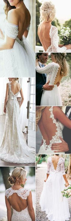open and low back wedding dresses and wedding gowns