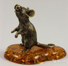 Фигурка Мышь Домашняя Янтарь Миниатюра Литье Размеры: высота - 4.8 см -1000 руб.