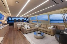 Discover the #Interior #Design #MadeInItaly on board of the #Yachts of the Pershing Fleet! Pershing Yacht 108