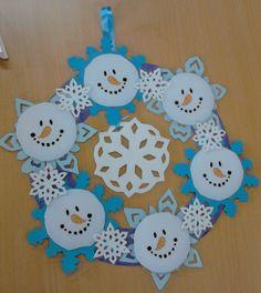 Guarniment de corona de ninots de neu.  (Bloc Aula TIC)