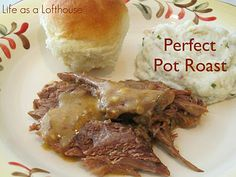 Perfect Pot Roast - cooked in crockpot