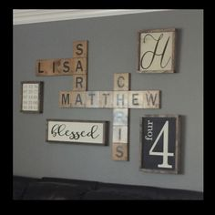Wood Wall Art  Display Family Names In A Beautiful And Playful Way! Wood  Wall Art. Letter Tiles