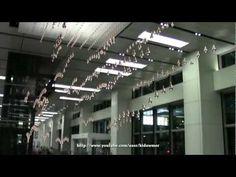 """Kinetic Rain"" installation at Changi Airport Terminal 1, Singapore, conceived by ART+COM.    http://www.artcom.de/en/news/article/detail/singapore-changi-airport-kinetic-rain/"