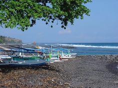 Fishing Boats at Candidasa, Bali, Indonesia