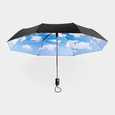 Collapsible sky umbrella.
