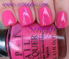 OPI Elephantastic Pink nailing-it Bright Pink Nails, Opi Pink, Cute Pink Nails, Pink Nail Polish, Nail Polish Trends, Pretty Nails, Opi Nails, Manicure, Nail Polishes