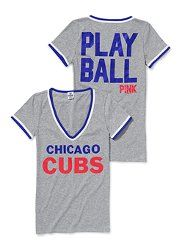Chicago Cubs V-neck Tee from PINK