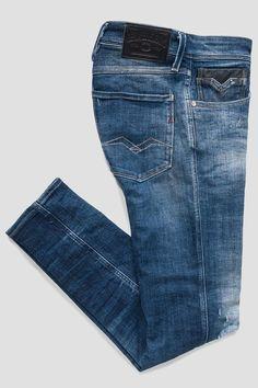 M914L_000_141-356_009_SL Denim Jeans Men, Replay, Kids Fashion, Villa, Slim, Pocket, Stylish, Fitness, Fabric