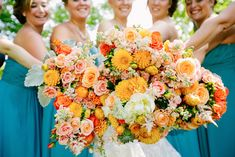Real Wedding: Bright and Bold with Turquoise and Orangehttp://www.portugalwhiteweddings.com/#!wedding-colour-palette/c1sm1
