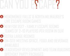 Menomonee Falls & North Milwaukee Escape Room Headquarters