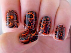 Kelsie's Nail Files: Halloween Water Marble