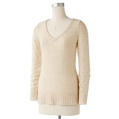 Apt. 9 Sequin and Lurex Sweater - Coal & Rose Dawn Colors - Kohl's - Clearance Priced 9 Dollars