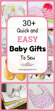 DIY Baby Gifts to sew: Over 30 free and easy Baby gift sewing projects patterns and tutorials. Great baby shower gift ideas for girls and boys. Make quick and easy homemade baby blankets baby quilts bibs baby burp cloths and more. Homemade Baby Blankets, Homemade Baby Gifts, Diy Baby Gifts, Baby Girl Gifts, Easy Gifts, Easy Baby Gifts To Make, Homemade Burp Cloths, Homemade Baby Clothes, Baby Shower Gifts To Make