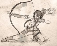 The Hunger Games fan art of Katniss Everdeen Hunger Games Fandom, Hunger Games Trilogy, The Hunger Games, Hunger Games Catching Fire, Hunger Games Drawings, Manga Posen, Art Du Croquis, Katniss Everdeen, Art Drawings Sketches