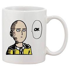 One Punch Man Saitama Mug 11oz Ceramic Coffee Mug Veramons http://a.co/cMRTeGP