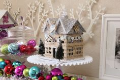Glitter Holiday Houses (Swell Noel Idea #9) | Positively Splendid {Crafts, Sewing, Recipes and Home Decor}